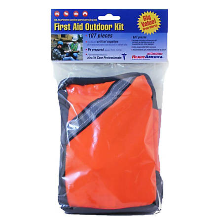 Ready America® 107-Piece First Aid Outdoor Kits, Orange, Pack Of 2 Kits