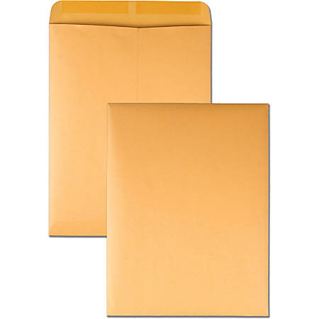 """Quality Park® Catalog Envelopes With Gummed Closure, 10"""" x 13"""", Brown, Box Of 250"""