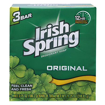 Irish Spring® Bar Soap, Clean Fresh Scent, 3.75 Oz, Case Of 18
