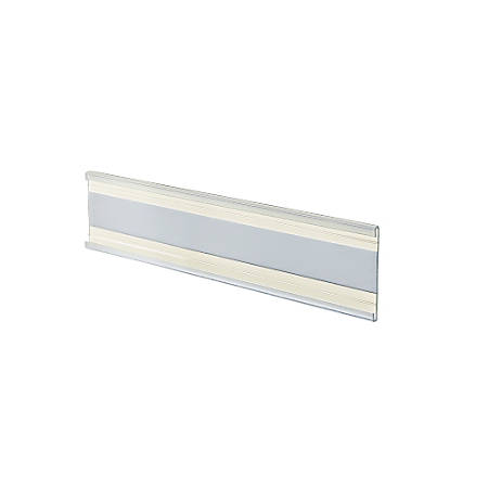 """Azar Displays Adhesive-Back Acrylic Nameplates, 2"""" x 6"""", Clear, Pack Of 10"""