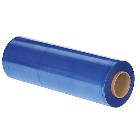 "Office Depot® Brand VCI Stretch Film Roll, Hand Stretch, 18"" x 1,500', Blue, Case Of 4"