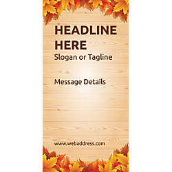 Custom Vertical Display Banner Autumn Leaves