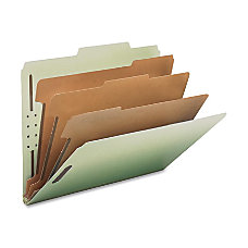 Nature Saver Recycled GrayGreen Classification Folders