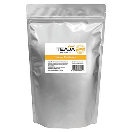 Teaja Organic Loose-Leaf Tea, Nana's Blueberry Decaf, 8 Oz Bag