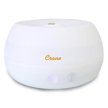 "Crane Personal Cool Mist Humidifier, 6 3/4""H x 6 3/4""W x 4 1/8""D, White"