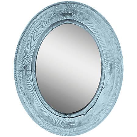 """PTM Images Framed Mirror, Villa I, 22 1/8""""H x 18 1/8""""W, Blue"""