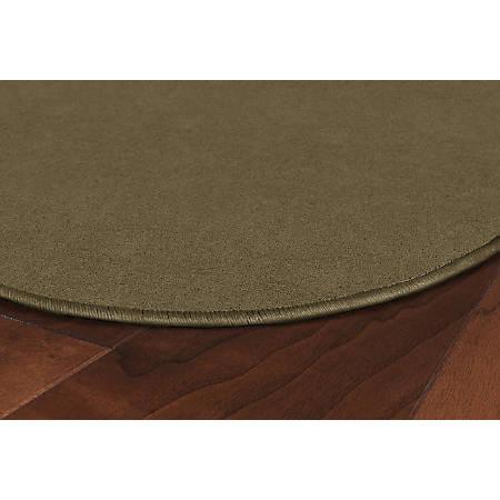 Flagship Carpets Americolors Rug, Oval, 12' x 18', Almond