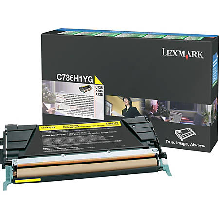 Lexmark Toner Cartridge - Laser - High Yield - 10000 Pages - Yellow - 1 Each