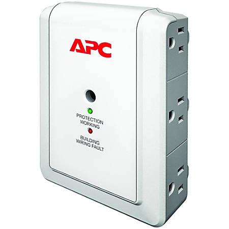 APC Essential SurgeArrest P6W 6-Outlet Surge Suppressor, White