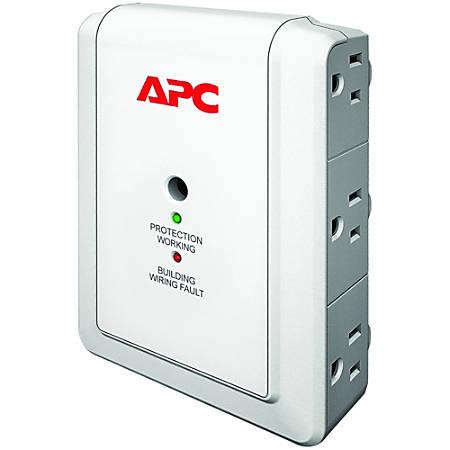 APC by Schneider Electric SurgeArrest Essential P6WT 6-Outlets Surge Suppressor - 6 x NEMA 5-15R - 1080 J - 120 V AC Input - 120 V AC Output - Fax/Modem