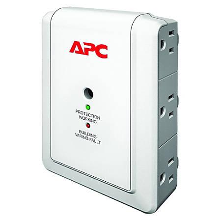 APC by Schneider Electric SurgeArrest Essential P6WT 6-Outlets Surge Suppressor