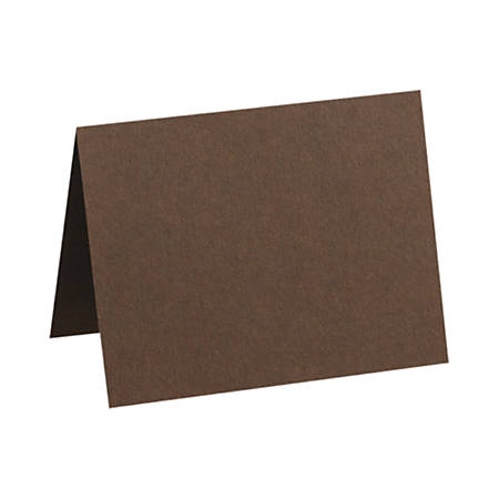 """LUX Folded Cards, A1, 3 1/2"""" x 4 7/8"""", Chocolate Brown, Pack Of 250"""
