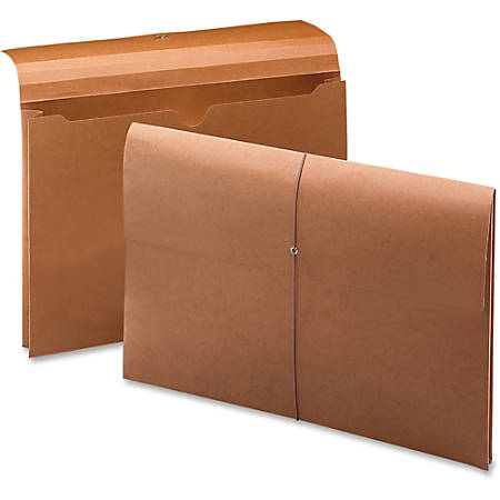 """Smead 100% Recycled Redrope Wallet - Legal - 8 1/2"""" x 14"""" Sheet Size - 2"""" Expansion - Stock, Tyvek - Redrope - Recycled - 10 / Box"""