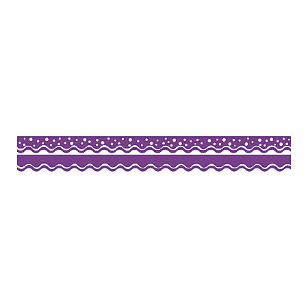 "Barker Creek Scalloped-Edge Double-Sided Borders, 2 1/4"" x 36"", Grape, Pack Of 13"