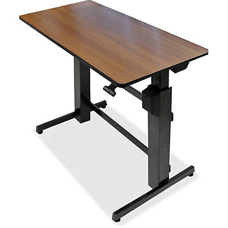 Ergotron WorkFit-D, Sit-Stand Desk, Walnut