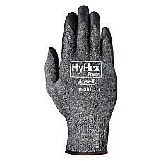 HyFlex Foam Gray Gloves 8 BlackGray