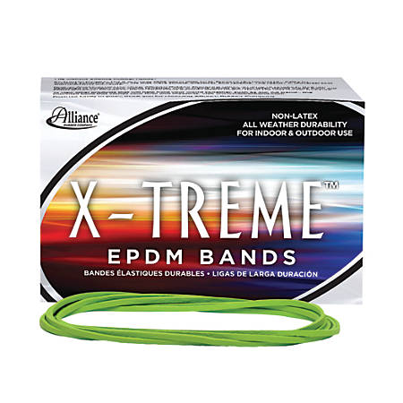 Alliance® Rubber X-Treme™ File Bands, Lime Green
