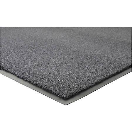 "Genuine Joe Silver Series Indoor Entry Mat - Building, Carpet, Hard Floor - 10 ft Length x 36"" Width - Plush - Charcoal"