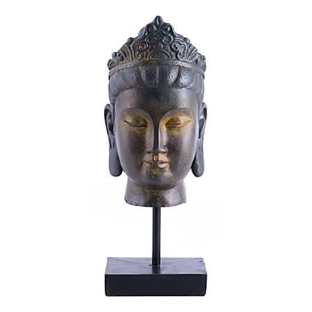 "Zuo Modern Buddha In Pedestal, 13 7/16""H x 5 5/16""W x 5 3/4""D, Bronze"