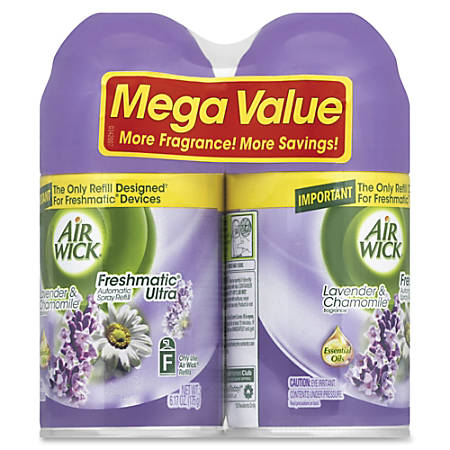 Airwick® Freshmatic® Ultra Refill, 6.17 Oz, Lavender & Chamomile Scent, Pack Of 2