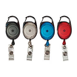 Advantus Retractable Carabiner ID Reels Assorted