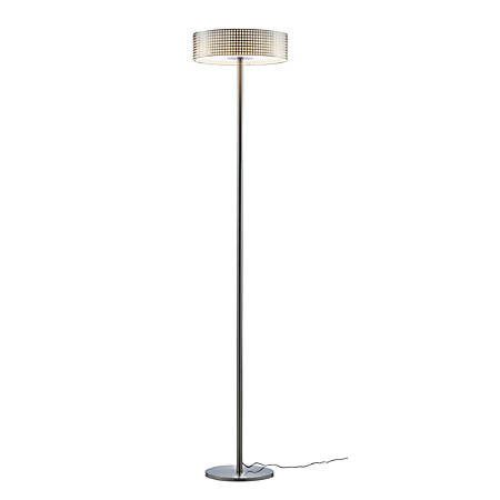 "Adesso® Wilshire LED Floor Lamp, 70 1/2""H, Steel Shade/Steel Base"