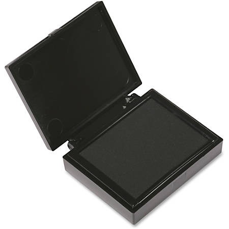 "LEE Inkless FingerPrint Pad - 1 Each - 2.3"" Width x 1.8"" Depth - Black Ink"