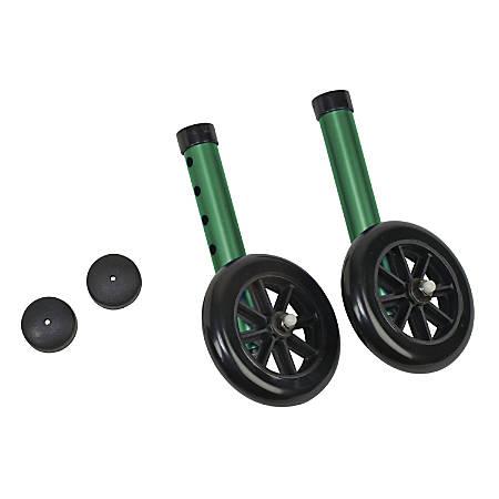 DMI® Walker Wheels With Glide Cap Kit, Green