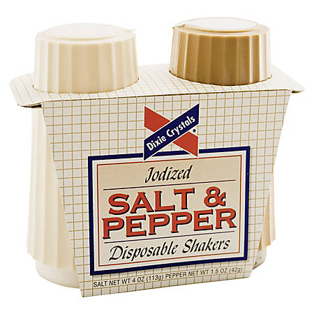 Dixie® Crystals Salt And Pepper Shaker Set
