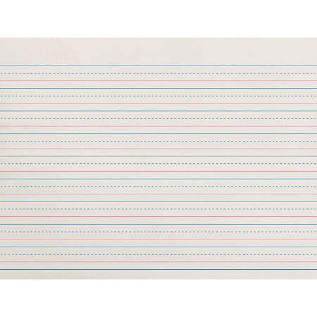 """Pacon® Broken Midline Writing Paper, Grade 2-3, 1/2"""" x 1/4"""" x 1/4"""", LW"""