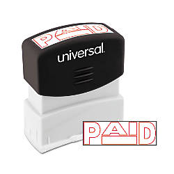 Universal Pre Inked Message Stamp Paid