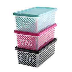 See Jane Work IML Plastic Storage
