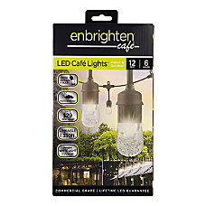 Enbrighten Classic LED Caf Lights 12