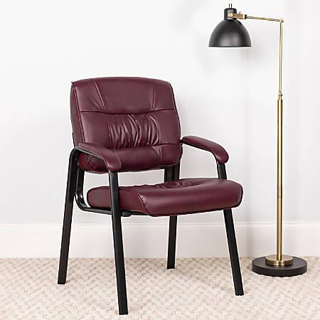 Flash Furniture Leathersoft Side Chair, Burgundy/Black
