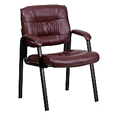 Flash Furniture Leather Side Chair BurgundyBlack