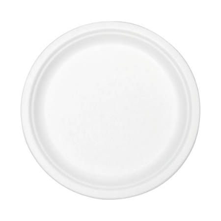 "Stalk Market Compostable Tableware, 9"" Plate, White, 300/Carton"