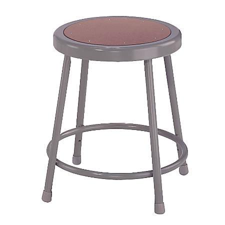 "National Public Seating Hardboard Stool, 18""H, Gray"