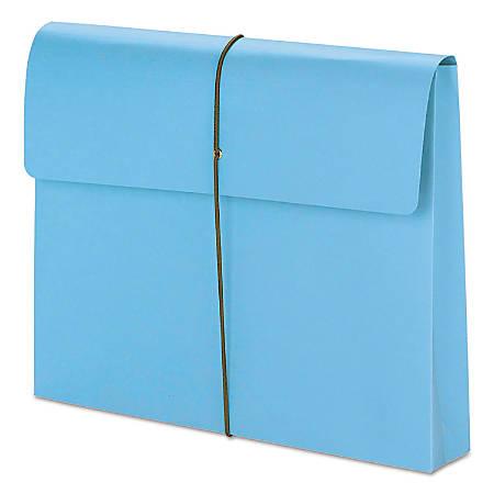 "Smead® Color Expanding Wallets, 2"" Expansion, Letter Size, Blue, Box Of 10"