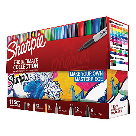 Sharpie® Ultimate Pack, Assorted Colored, Pack Of 115