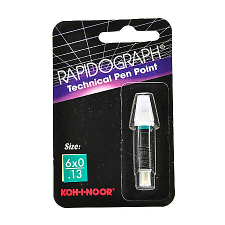 Koh-I-Noor Rapidograph No. 72D Replacement Point, 6x0, 0.13 mm