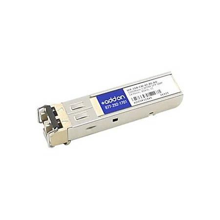 AddOn MSA and TAA Compliant 1000Base-CWDM SFP Transceiver (SMF, 1470nm, 80km, LC)