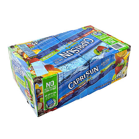 Capri Sun Variety Pack, 6 Oz, Pack Of 40 Pouches
