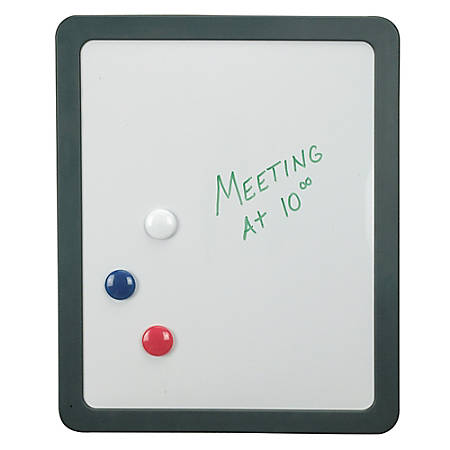 "Office Depot® Brand 30% Recycled Partition Magnetic Dry-Erase Board, 12 7/8""H x 15 7/8""W x 1""D, White"