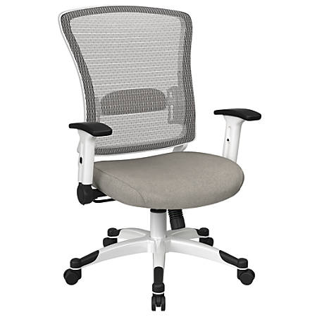 Office Star™ Space Seating Mesh Mid-Back Chair, Sky/White
