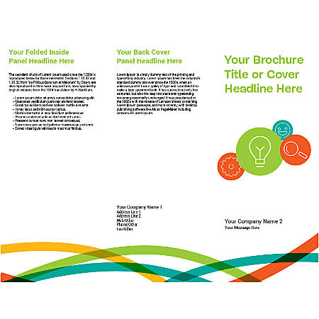 Customizable Trifold Brochure, Business Idea And Tools