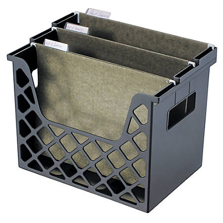 "Brenton Studio™ 30% Recycled Desktop File Organizer, 10 3/4""H x 13 1/4""W x 8 5/8""D, Black"