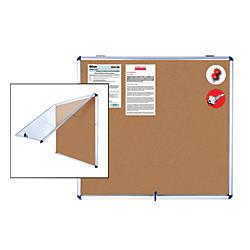 MasterVision Ultra Slim Enclosed Board Cork