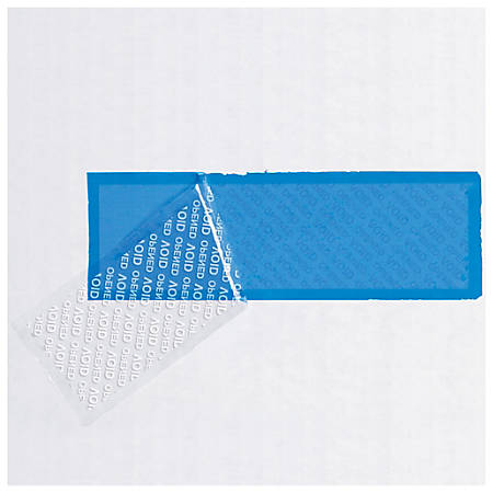 """Tape Logic® Security Strips, 3"""" Core, 2"""" x 5.75"""", Blue, Roll Of 330"""