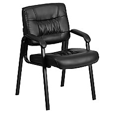 Flash Furniture Leather Side Chair Black