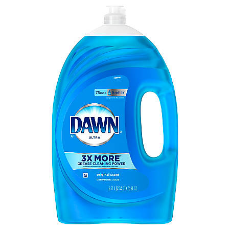Dawn® Ultra Dish Soap, Original Scent, 75 Oz, Blue, Case Of 6